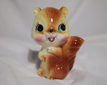 Ceramic Squirrel Figurine by Norleans Japan