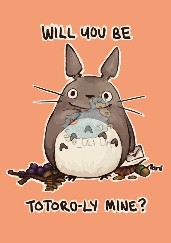 Totoro greeting card Studio Ghibli card card for husband – Totoro Birthday Card