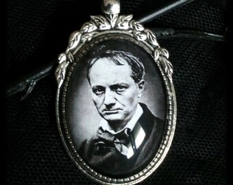 Charles Baudelaire - Charles Baudelaire Cameo Necklace cameo