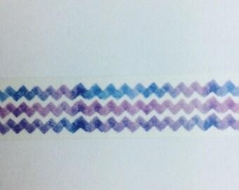 Water zigzag washi tape