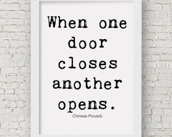 When One Door Closes Etsy