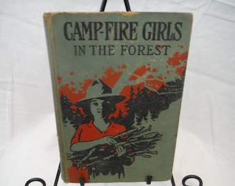 1910s - Camp-fire Girls in the Forest - Antique, Retro, Vintage, Decorum, Literature