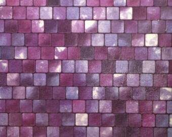 Purple Mosaic Beverage Coasters