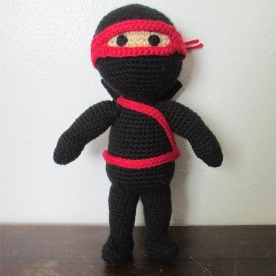 Amigurumi Tartarughe Ninja : Amigurumi Ninja Doll Crochet Ninja Doll Stuffed Ninja Ninja
