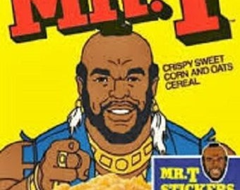 "2"" x 3"" Magnet 1980's Mr. T Cereal FRIDGE MAGNET Locker MAGNET"