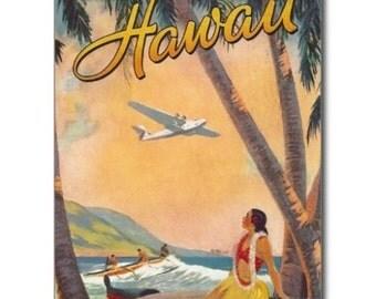 "Vintage Hawaiian Islands Postcard 2"" x 3"" Magnet FRIDGE MAGNET SOUVENIR"