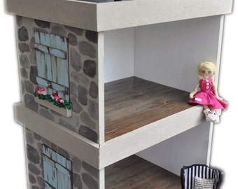 MiniMolly Dollhouse Furniture , Stackable Rooms X 2
