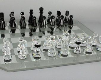 Swarovski Full Chess Set in Case