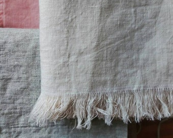"Linen Throw.  100% linen.  33"" x 54"". Multiple colors available."