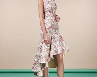 Coctail flower print dress