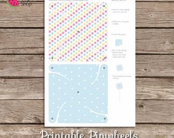 Fairy Printable Pinwheels, Peppa Pig, Ada Peppa, Rehiletes.
