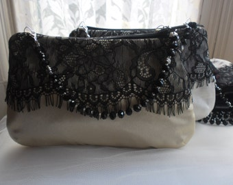 Black Lace Clutch Bag, Purse, Wedding Clutch Bag, Evening Purse, Prom Purse, Lace Clutch