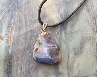Boulder Opal Necklace / Australian Boulder Opal 16021