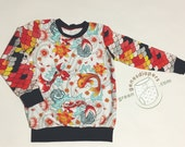 Koi Fish Scales | Long-Sleeved | Crewnweck | Shirt | Sweatshirt | Size 3T - 4T |