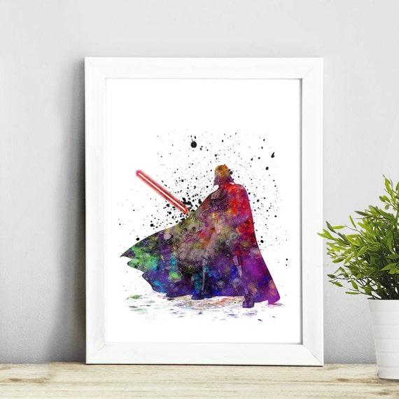 Darth vader Star Wars art Watercolor Art Illustration