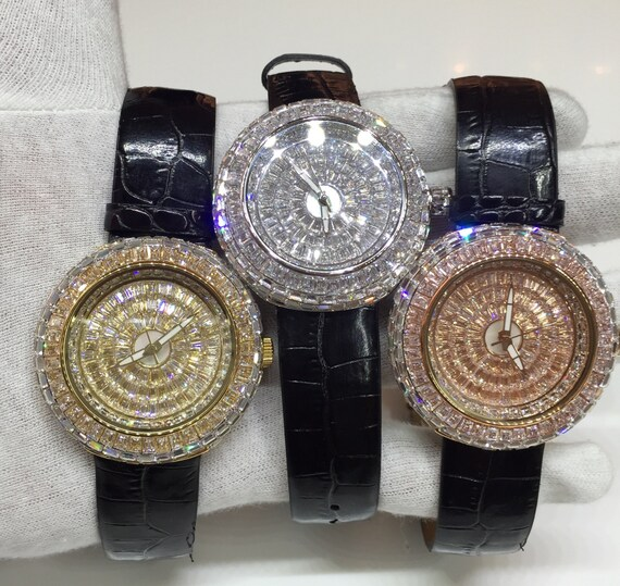 Custommade Diamond: Custom Lab Made Diamond Watches By FlawlessJewelz On Etsy