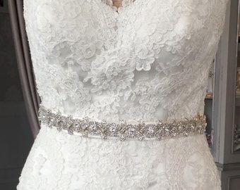 Alice crystal bridal sash