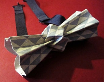 printed origami bow tie