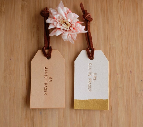 Personalized Luggage Tags Wedding Gift: Mr And Mrs Luggage Tag Custom Couple Travel Tag Personalized