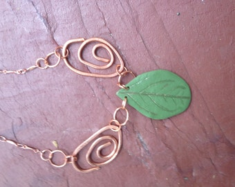 Modern Clay and Copper Necklace