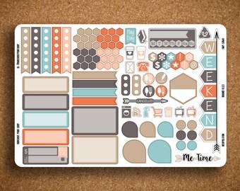 SOLID Functional Planner Sticker Sampler for Inkwell Press Planner a5 Flex & Bound Flex IWP-SAM1