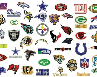 NFL Football Embroidery Design Collection (47 designs)