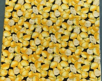 Lemon Fabric. FQ. Lemons Quilting Cotton. Yellow Fabric. Yellow Cotton Fabric. Lemonade Fabric.