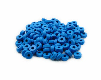 Blue Rondelle Wood Beads, 8mm Blue Wooden Beads, 150pcs Rondelle Wood Beads, Blue Rondelle Beads, Wood Beads, Jewelry Making, DIY Supplies
