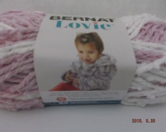 Bernat Lovie Baby Yarn ~ Color Pink ~ #5 Bulky ~ 77 Yds