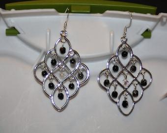 Black & White Chandelier Earrings