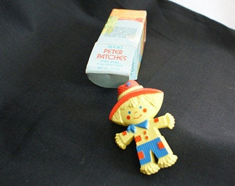 Vintage Avon Jewelry,  Wee Peter Patches, Avon Pin Pal, Scarecrow Brooch, Childs Jewelry, 1970s collectible