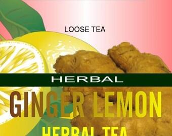 Ginger Lemon Herbal Tea Blend. Caffeine free! 4oz