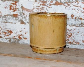 Ceramic vintage Tan jar