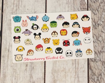 MINI SIZE Tsum Tsum Inspired Themed Deco Sheet Planner Stickers- Erin Condern/ MAMBI Happy Planner/Personal Size Planner