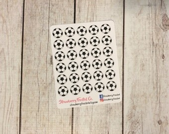 Soccer Ball Planner Stickers - Made to fit Vertical or Horizontal Layout
