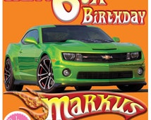 Hot Wheels Personalised Edible Image Real Icing Cake Topper Large 20 x 20cm square