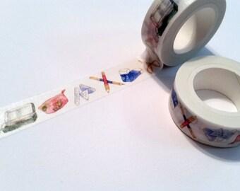 School Supply Washi Tape