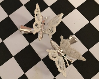 Mini Vintage Moving Butterfly Clips TWO PACK