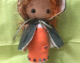 Lovely red haired girl doll