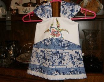 Baby Sundress 6/8m, Baby Dress, Infant Dress, Sundress 6/8m, Pillowcase Dress 6/8m, Baby Girl Sundress 6/8m