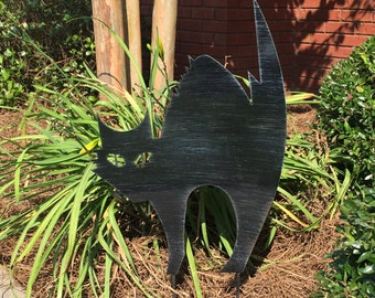Witches Cat Yard Stake