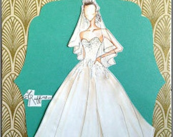 Made to order wedding dress Illustration