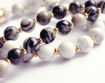 Mala Beads 108 - Mala Necklace - Mala Bead Necklace - Mala Prayer Beads - Meditation Beads - Yoga Beads - Gemstone Mala - Quartz Mala - Yoga