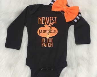 Baby girl, coming home outfit, first Halloween outfit, newborn girl, Halloween outfit