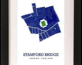 Chelsea Football Club - map art