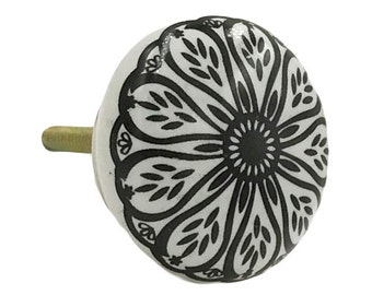 Black Wheel Flat Knob Pull for Dresser Drawer, Cabinet Drawer Pull, Cabinet Door - i938