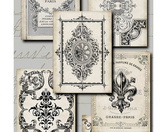 Antique Labels Five - digital download - labels - gift tags - decoupage - scrapbooking = crafts - Raspberry Hall