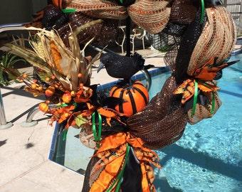 Halloween wreath, Fall wreath, Seasonal wreath, Autumn wreath, Holiday wreath,  Fall decor, Autumn decor