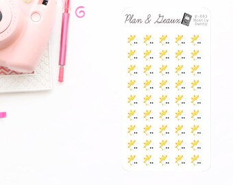 Mostly Sunny Planner Stickers, Partly Cloudy Day Planner Stickers, Weather Planner Stickers