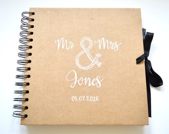 "Personalised Wedding Guestbook/Photo Album/Scrapbook 8""x 8"""